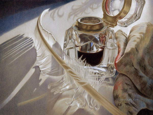 Quill & Soul by Kristen Doty - colored pencil
