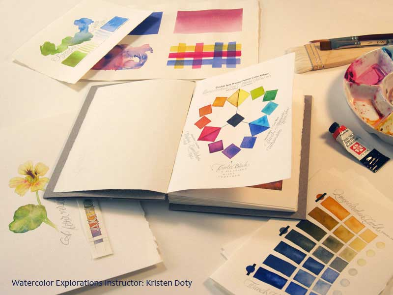 Watercolor Explorations -Kristen Doty